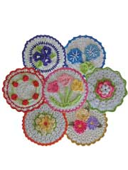 Floral Bouquet of Dishcloths Crochet Pattern