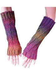 Fun Fan Gauntlets Knit Pattern