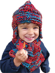 Bubby's Earflap Hat & Scarf Knit Pattern