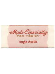 """Made Especially For You By"" Personalized Woven Label"