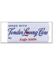 """Made with TLC By"" Personalized Woven Label"