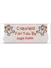 """Created For You By"" Personalized Woven Label"