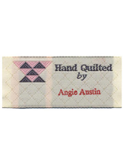 """Hand Quilted By"" Personalized Woven Label"