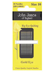 John James Gold 'N Glide� Big Eye Quilting Needles