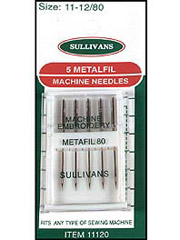 Metafil Machine Needles - 5/Pkg.