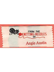 """From The Knitting Needles Of"" Personalized Label"