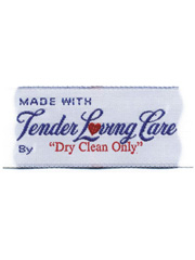 TLC Dry Clean Only Labels