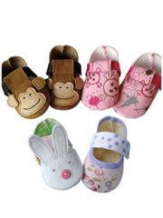 Monkey & Bunny Shoes Sewing Pattern