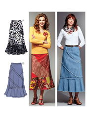Misses' Patchy Skirts Sewing Pattern