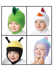 Fleece Animal Hats Sewing Pattern Vol 2