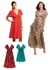 Empire Waist Dress Sewing Pattern