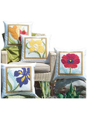 Flowers on Display Pillow Pattern