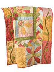Fanciful Flowers Quilt Kit