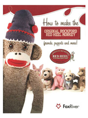 Monkey & Friends Book or Red Heel Sock