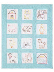 "Farm Animals 9"" Nursery Quilt Blocks"