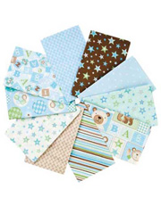 Bear Hugs Boy Fat Quarters - 10/pkg.