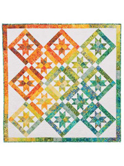 Stars on Point Quilt Pattern