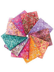 Dancing Bubbles Batiks Fat Quarters - 10/pkg.
