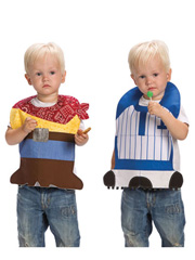 Cowboy & Baseball Bib Set Sewing Pattern