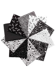 Basic Black & White Fat Quarters - 10/pkg.