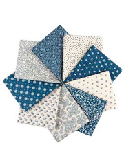 Cumberland Blue Fat Quarters - 9/pkg.