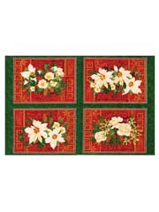 Christmas Rose Place Mat Panel