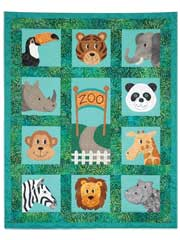 Zany Zoo Faces Quilt Pattern