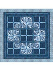 Indigo and Lace Quilt Pattern