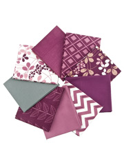Simply Color Eggplant Fat Quarters - 9/pkg.