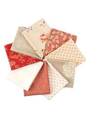 French General Fat Quarters - 9/pkg.