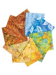 River Rock Batik Fat Quarters - 10/pkg.