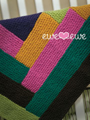 Cuddle Up Log Cabin Blanket Knit Pattern