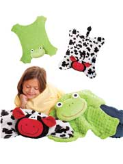 Cuddle Blankets-Cow & Frog Sewing Pattern