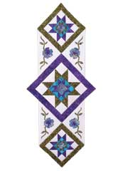Star Flower Table Runner Pattern