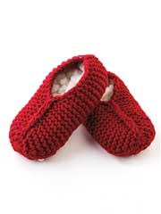 Retro Thrum Slippers Knit Pattern