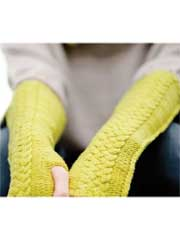 Fumior Fingerless Gloves Knit Pattern