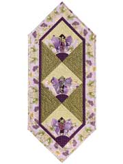 Oriental Fan Table Runner & Quilt Pattern w/ Template