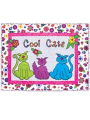 Cool Cats Wall Hanging Pattern