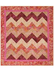 Strip Tube Chevron Quilt Pattern