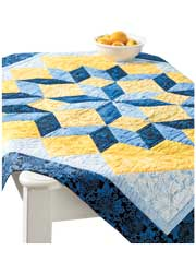 Midnight Blue Star Quilt Pattern