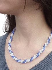 Leah Twist Necklace Kit in Sapphire