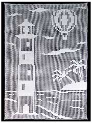Lighthouse Dreams�Filet Afghan Crochet Pattern Pack