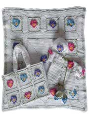 Pansy Layette Crochet Pattern Pack