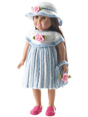 "Little Miss Rosalie 18"" Doll Crochet Pattern Pack"