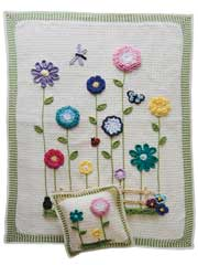 Flower Afghan & Pillow Pattern Pack