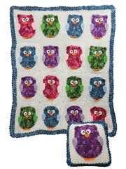 Owl Blanket & Pillow Crochet Pattern Pack