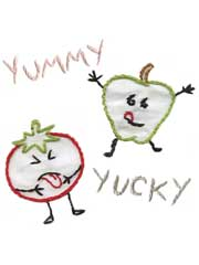 I Luv Veggies Iron-on Embroidery Patterns