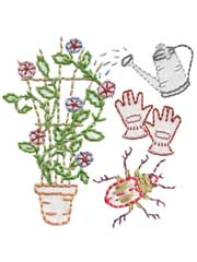 Garden Variety Iron-on Embroidery Patterns