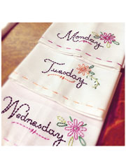 Dainty Days Iron-on Embroidery Patterns