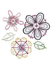 Fantasy Flowers Iron-on Embroidery Patterns